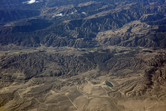 Aerial view of the San Andreas Fault, Elizabeth Lake, and Lake Hughes, Los Angeles County, California (cocoi_m) Tags: aerialphotograph aerial fault sanandreasfault elizabethlake lakehughes losangelescounty california nature geology geomorphology sangabrielmountains antelopevalley