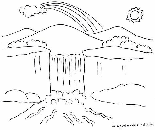 Gambar Pemandangan Alam Yang Mudah Digambar 25 Contoh Sketsa