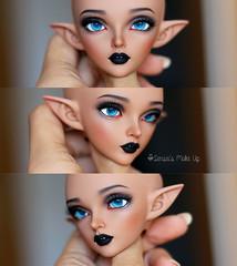 Commissions (Rakeru Space) Tags: senseis make up rakeru sensei rakerusensei makeup bjd abjd doll custom fairyland minifee sircca elf tan