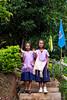 Karen Girls on the Steps 0142 (Ursula in Aus) Tags: banhuaymaegok banhuaymaegokschool hilltribeeducationprojects maehongson maesariang thep thailand