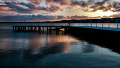 End of the Day at the End of the Pier (scrimmy) Tags: scotland dundee broughtyferry sunset rivertay river pier water