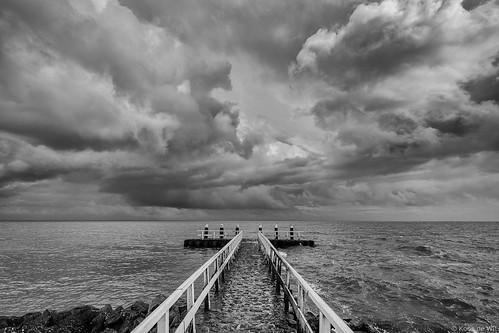 Clouds above lake IJsselmeer