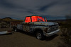 hi-desert patina. mojave desert, ca. 2016. (eyetwist) Tags: eyetwistkevinballuff eyetwist mojavedesert night pickup truck ford junkyard abandoned dark longexposure long exposure fullmoon mojave desert nikon d7000 nikkor capturenx2 1024mmf3545g wideangle 1024mm npy nocturne highdesert americana americantypology american typology dead empty desolate lonely derelict decay shadow ruin lightpainting old vintage rust rusty southwest grille hood ornament windshield cracked patina headlights chrome carmageddon red hoodornament logo barstow yermo california clouds moon moonlight urbex car weathered worn sanded layers wheels