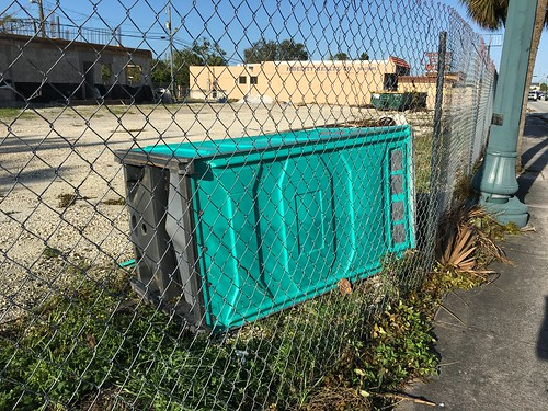 Overturned Porta Potty