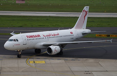 Tunisair A319-114 TS-IMJ. 08/09/17. (Cameron Gaines) Tags: cn 891 first flew hamburg finkenwerder 28th july 1998 davyw before being delivered tunisair 21st august tsimj the aircraft was named el kantaoui delivery current september 2017 airbus a319114 taxiing from runway 23l dusseldorf after arriving tunis 080917 a319 a319100 grass dus eddf germany planespotting plane airliner airplane avgeek