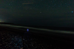 Ghost on the beach (langdon10) Tags: canada canon70d clearskies lawrencetownbeach nighttime novascotia shoreline stars longexposure outdoors