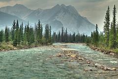Siffleur River with Smoke (John Payzant) Tags: smoke hdr alberta canada siffleur river