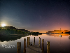 Lodore jetty moonset ... (Mike Ridley.) Tags: astrophotography astrophotographer moonlit moonlight keswick lodorejetty lodore sonya7s samyang24mmf14 mikeridley sony nature night nightphotography