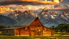 Tetons Frame Mormon Row, Sunrise (sapere18) Tags: 2017 grandteton hdr july mormonrow wyoming summer sunrise