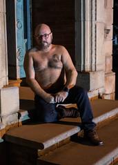 Thinker-3685_5x7 (Mike WMB) Tags: bear beard tattoo portrait night