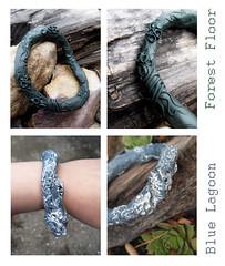 Bangles (AleksandraMicic) Tags: flickr bangles bracelet 7dwf polymer jewelry joyeria nakit green blue aleksandramicic micicart micicartstudio