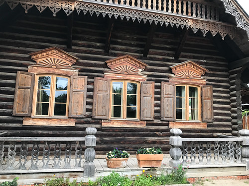 Russian wooden house construction