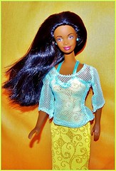 Vacation Girl (farmspeedracer) Tags: barbie nichelle woman girl beauty beach doll toy playline 1990s 90s nineties redressed attel collector florida vacation