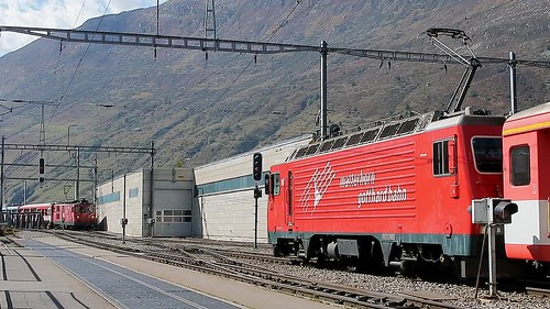 Andermatt - MGB Change of Locomotive