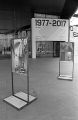 40 Year old's arty overspill (pfh2010) Tags: film blackwhite liverpool yashica 230af kentmere 100 open eye gallery