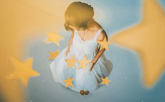 392 🌟 (Katrina Yu) Tags: selfportrait woman stars white whitebackground conceptual creative concept surreal fineart photoshop manipulation