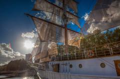 Second wind, klaipéda, Lithuania (patrick Thiaudiere, thanks for 1 million views) Tags: flickrfriday secondwind sun soleil ciel nuage clouds voile voiles vent wind boat bateau
