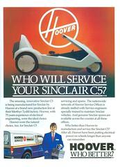 Hoover Sinclair C5 service advert (Nivek.Old.Gold) Tags: hoover sinclair c5 service