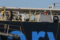 IMG_3694 (LoxPix2) Tags: australia queensland qld brisbane brisbaneriver ussronaldreagan minervaemily mv loxpix slmurrumbidgee slcook tug aircraftcarrier hovercraft pelican