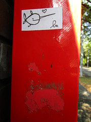(lu.glue) Tags: lu luglue stickers basel sticker street art streetart urban downtown city ville città stadt handmade handdrawn draw drawing dessiné disegnato zeichnung fineliner creature