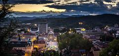 Ljubljana Trinity Church (mmi.11296) Tags: church ljubljana slovenia europe eu sunset lights lightrays panorama sony a6000 nikon seriese 50mm niftyfifty