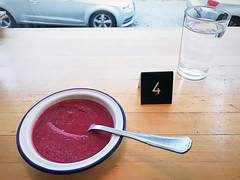 (Sameli) Tags: soup plate restaurant number four 4 table food helsinki suomi finland glass water