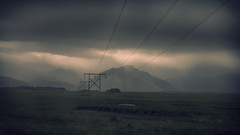 Two Minutes to Midnight (Andrew G Robertson) Tags: iceland east hofn island mountain cloud gloom skaftafellssysia atmosphere telegraph pole auster canon5dmkiv mkiv mk4 5d canon