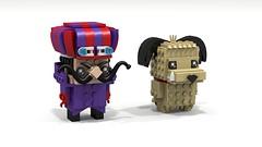 Brickheadz Dick Dastardly & Muttley (lewissmith1) Tags: lego brickheadz dick dastardly muttley hannabarbera cartoon wackyraces wacky races