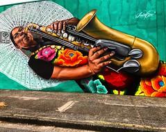 The Sax 🎷 (Pennan_Brae) Tags: streetartist yvr murals saxophone sax streetartistry mural vancity vancouver streetart