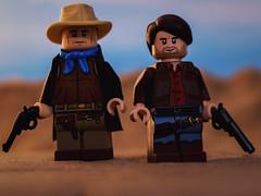 The Searchers (Just Bricks) Tags: lego the searchers john wayne jeffrey hunter ethan edwards martin pawley ford 1956 western minifigure figbarf custom brickarms macro canon 70d tamron 60mm
