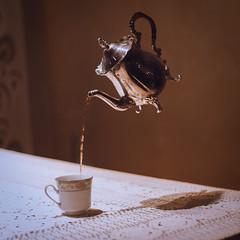 party of one (lauren zaknoun) Tags: 100nights 100photos laurenzaknoun aliceinwonderland conceptual conceptualphotography dark darkphotography fairytale fantasy surreal surrealphotography tea teaparty