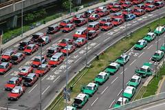 Taxis @HKG (thokaty) Tags: hkg hongkongairport cheklapkok taxis red green publictransport hongkong newterritories