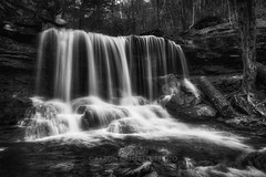 B. Reynolds Falls, 2017.04.22 (Aaron Glenn Campbell) Tags: rgsp rickettsglen statepark dcnr fairmounttownship luzernecounty pennsylvania glenleigh fallstrail kitchencreek outdoors nature waterfall pawaterfalls breynoldsfalls bw blackandwhite optoutside spring 2017 3xp ±2ev hdr macphun aurorahdr2017 nikcollection colorefexpro viveza sony a6000 ilce6000 mirrorless sigma 19mmf28exdn primelens wideangle emount neewer ndfilter variable neutraldensity