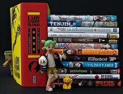 « Come on everybody, get to it! » (Damien Saint-é) Tags: danbo frenchmanga frenchbook yotsuba japan manga toy jouet vinyl kotobukiya revoltech