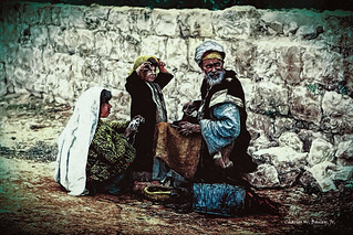 Digital Oil Painting of a Shoemaker and His Family in Jerusalem by Charles W. Bailey, Jr.