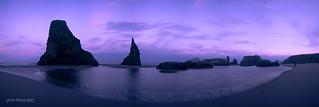 Bandon Beach Blue Hour Pano