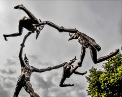 catch me if you can (I was blind now I see!) Tags: london statue art holding perspective sky clouds body form flying
