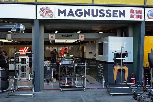 Haas VF-17 in the garage