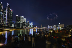 2017-Aug-09 5D4 1124 DroneWorks_Hands (yimING_) Tags: yellow drone singaporenationaldayparade2017 singaporenationaldayparade cityscape landscape marinabaysands marinabayfinancialcentre fullertonhotel fullertonbayhotel esplanade reflections