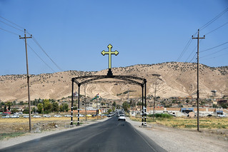 Entering the Christian town of Alqosh / Iraqi Kurdistan