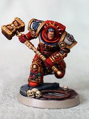 Gabriel Angelos (Scott Steinhart) Tags: warhammer 40k 40000 spacemarines bloodravens gabrielangelos red godsplitter chaptermaster