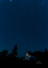 Starlight history (_Matt_T_) Tags: night hdpdfa1530mmf28edsdmwr church north le ontario lakehelen longexposure nipigon redrocknation unorganizedthunderbaydistrict canada ca stsylvesters astrometrydotnet:id=nova2229227 astrometrydotnet:status=solved