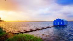 Blue boat house Perth (autrant) Tags: d750 nikon australia lake sunrise blueboathouse westaustralia perth