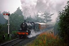 53809, Severn Valley Railway, October 1987 (David Rostance) Tags: 53809 13809 sdjr lms class7f svr oldburyviaduct bridgnorth shropshire severnvalleyrailway