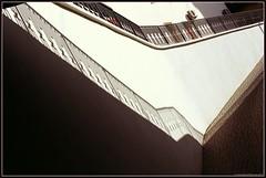 Climb. (Ігор Кириловський) Tags: climb c41 underground parking garage hotel rius lviv ukraine slr nikonf5 lens nikkor 50mmf18afd film kodak colorplus200 bw uvhaze mrcnano xspro digital flash nikon speedlight sb28 fillflash
