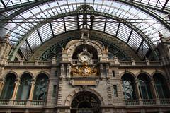 Antwerp train station (1) (Krzysztof D.) Tags: belgia belgium belgique belgië europa europe architecture architektura dworzec station stacja bahnhof antwerpen anvers
