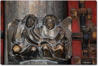 Detail of the Angelic Door Latch in Sainte Chappelle