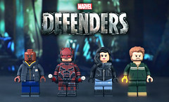 LEGO Marvel : The Defenders Minifigures (MGF Customs/Reviews) Tags: lego marvel netflix the defenders daredevil jessica jones luke cage iron fist custom figure minifigure