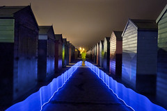 Perspective (Stoff74) Tags: flickr perspective light painting photography long exposure chalets beach houses lily ramona singer songwriter hastings st leonards sea uk east sussex england lenser v24