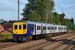 319375 1F07 Euxton (British Rail 1980s and 1990s) Tags: train rail railway lmr londonmidlandregion mainline wcml westcoastmainline lancs lancashire livery preston liveried traction 1f07 emu electricmultipleunit passenger br britishrail 319 class319 northern arn arrivarailnorth 319375 ac